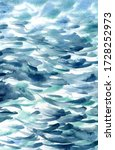 hand painted sea water texture  ... | Shutterstock .eps vector #1728252973