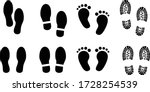 foot print vector illustration... | Shutterstock .eps vector #1728254539