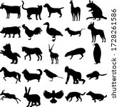 Set Of 25 Animals. Goat  Cat ...