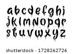 vector hand drawn typeface....   Shutterstock .eps vector #1728262726