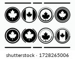 canadian button icon collection ... | Shutterstock .eps vector #1728265006