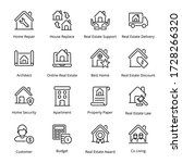 real estate outline icons  ...   Shutterstock .eps vector #1728266320