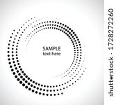halftone dots in circle form.... | Shutterstock .eps vector #1728272260