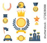 trophy and awards icons set. | Shutterstock .eps vector #172828088