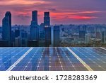 Solar Panel Over Cityscapes ...