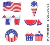 set of flat cartoon vector... | Shutterstock .eps vector #1728284716