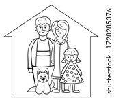 family  mom  dad  daughter and... | Shutterstock .eps vector #1728285376