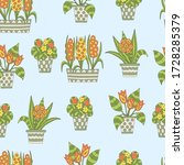 vector seamless pattern with... | Shutterstock .eps vector #1728285379