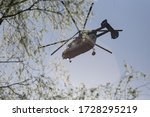 Police Helicopter With The...