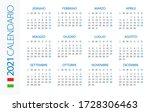 calendar 2021 year horizontal   ... | Shutterstock .eps vector #1728306463