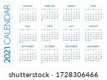 calendar 2021 year horizontal   ...   Shutterstock .eps vector #1728306466
