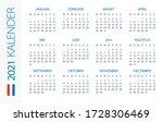 calendar 2021 year horizontal   ... | Shutterstock .eps vector #1728306469