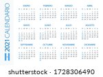 calendar 2021 year horizontal   ...   Shutterstock .eps vector #1728306490