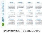 calendar 2021 year horizontal   ... | Shutterstock .eps vector #1728306493