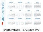 calendar 2021 year horizontal   ...   Shutterstock .eps vector #1728306499