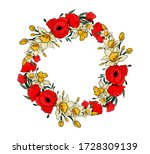 Wreath With Daffodils And...
