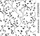 the drawn branches with leaves. ...   Shutterstock .eps vector #1728320983