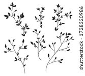 hand drawn leaves on a white... | Shutterstock .eps vector #1728320986