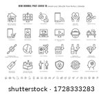 simple set of new normal after... | Shutterstock .eps vector #1728333283