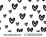 Hearts Pattern On White...