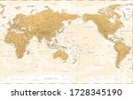 world map   asia china center   ...   Shutterstock .eps vector #1728345190
