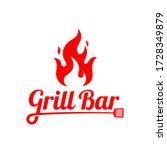 grill   barbecue bar logo... | Shutterstock .eps vector #1728349879