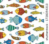 Fishes Seamless Vector Pattern...