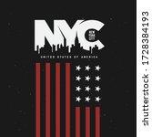 new york city theme t shirt... | Shutterstock .eps vector #1728384193