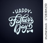 happy fathers day typography... | Shutterstock .eps vector #1728384250