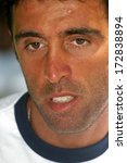 Small photo of ISTANBUL, TURKEY - JULY 26: Famous Turkish former football player and politician Hakan Sukur on July 26, 2006 in Istanbul, Turkey. He spent the majority of his professional career with Galatasaray.