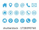 contact us icons. web icon set. ... | Shutterstock .eps vector #1728390760