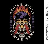 lightning eyes tiger and... | Shutterstock .eps vector #1728392470