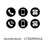 phone icon vector. telephone... | Shutterstock .eps vector #1728399616