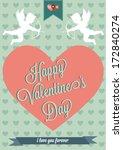 happy valentine's day hand... | Shutterstock .eps vector #172840274
