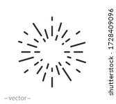 sun rays icon vector  concept... | Shutterstock .eps vector #1728409096