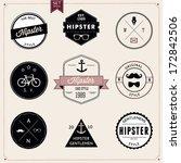 set of vintage styled design... | Shutterstock .eps vector #172842506