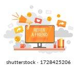 refer a friend concept design ... | Shutterstock .eps vector #1728425206