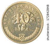 10 Croatian Lipa Coin Isolated...