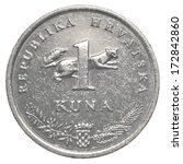 One Croatian Kuna Coin Isolate...