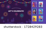celebration at home with... | Shutterstock .eps vector #1728429283