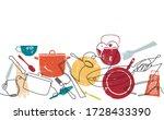 seamless horizontal pattern... | Shutterstock .eps vector #1728433390