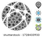 Collage Globe Network Organize...