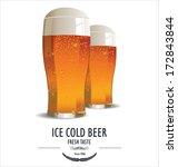 Beer retro background - stock vector