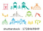 children play on playground....   Shutterstock .eps vector #1728469849