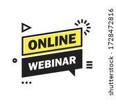 online live webinar button ...   Shutterstock .eps vector #1728472816