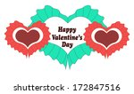 happy valentines day card with... | Shutterstock .eps vector #172847516