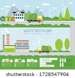 waste sorting and recycling...   Shutterstock .eps vector #1728547906