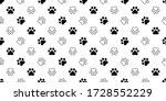 dog paw seamless pattern cat...   Shutterstock .eps vector #1728552229