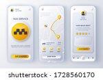 taxi service unique neumorphic...