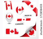 made in canada collection of... | Shutterstock .eps vector #172858433